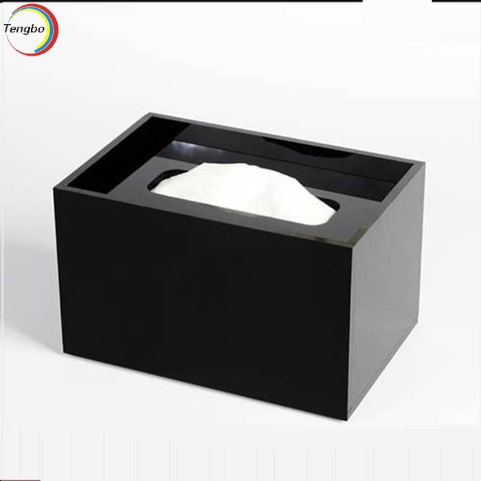 黑色压克力纸巾盒
